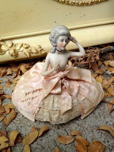 This Antique German Half Doll Pin Cushion by PocketFullOfHeirloom