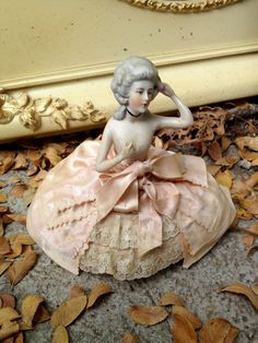 Antique German Half Doll Pin Cushion