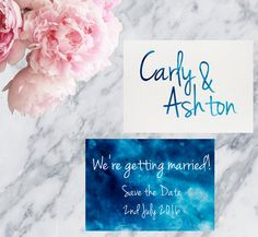 Watercolour Printable Wedding Invitation Save The Date - Print at home save the date by MarielleStudios on Etsy
