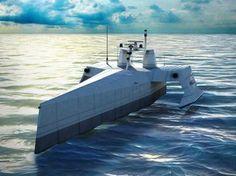 ACTUV(対潜戦継続無人艦)。アメリカのDARPA(国防高等研究計画局)がSAICと契約を締結して計画が進められるASW(対潜水艦戦)を行える無人艦。60-90日に渡っての長期の航行が可能で継続したミッションに対応する
