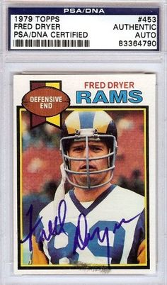 Fred Dryer Autographed/Hand Signed 1979 Topps Card PSA/DNA #83364790 by Hall of Fame Memorabilia. $56.95. This is a 1979 Topps Card that has been hand signed by Fred Dryer. It has been authenticated by PSA/DNA and comes encapsulated in their tamper-proof holder.