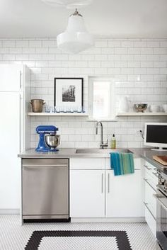 love the subway tile