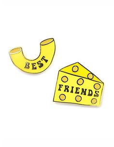 Mac & Cheese Best Friends Pin Set
