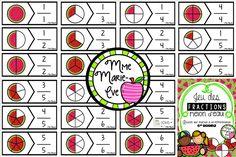 21 casse-têtes travaillant la notion des fractions.