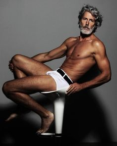 Model: Aiden Shaw By: Marcos Domingo Sancez Aiden Shaw, Gq, Men Over 40, Silver Foxes, Older Men, Aging Gracefully, Madame, Good Looking Men, Male Beauty