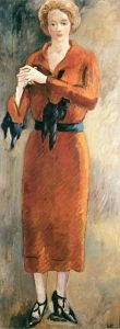 Woman in red - Louis Valtat -