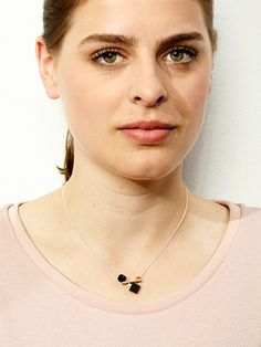 TURINA-PLAY-4.1B Sterling silver necklace (925) with pear wood, gold-plated brass and frosted acrylic glass. 45€ via turinajewellery.com