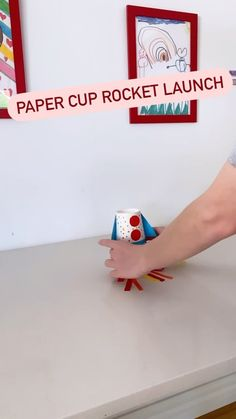 cintaandco on Instagram: PAPER CUP ROCKET LAUNCH the easiest science fun you will have with your kids ever!! All you need is two paper cups and two elastic bands.…