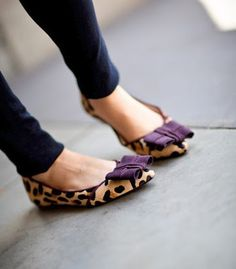 Embellished ballet flats #leopard