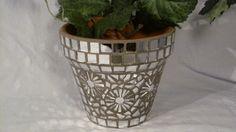 New Terracotta Handmade Mosaic Flower Pot/Planter by NKRNmosaics, $40.00 SOLD!