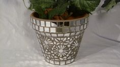 New Terracotta Handmade Mosaic Flower Pot/Planter by NKRNmosaics, $40.00 SOLD!