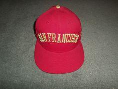 Men's Red & Gold SAN FRANCISCO GIANTS 59FIFTY MLB Hat, Size 7 5/8, GUC!      #sfgiants #NEWERA59FIFTYMLB #BaseballCap