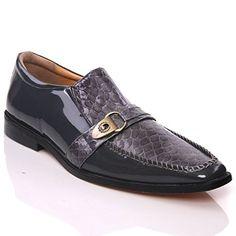 "Unze Herren- Leder 'Nitin ""Slipons Buckled formales Kleid-Schuhe - IMP-M5AL - http://on-line-kaufen.de/kobbler/38-eu-unze-herren-leder-nitin-slipons-buckled-imp-2"
