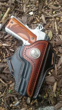 Dude Cool 1911 Hoslter 1911 Leather Holster, 1911 Holster, Custom Leather Holsters, Pistol Holster, Sewing Leather, Leather Craft, Western Holsters, Revolver, Custom Guns