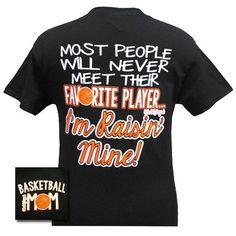 Girlie Girl Originals Basketball Mom Raised Mine Favorite Player Bright T Shirt