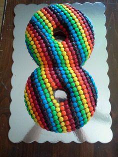 MM birthday cake Decorated Cakes Cupcakes Pinterest