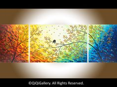 Art painting 72 Huge Abstract Impasto painting por QiQiGallery