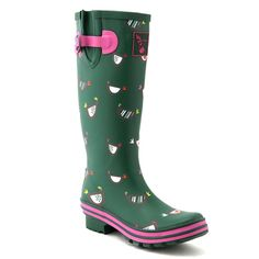 Evercreatures Women's Cute Print Rain Boot -- Continue to the product at the image link.