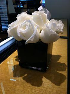 51 best black glass vases images on pinterest black glass diy small black vase with white roses mightylinksfo