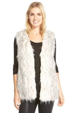 Love Token Faux Fur Vest available at #Nordstrom