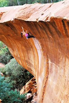 The Wave 5.12b, Nomad Springs, Australia. #climbing