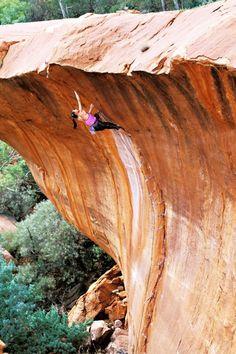 The Wave Nomad Springs, Western Australia. Trad climbing it, like a boss. Climbing Girl, Sport Climbing, Ice Climbing, Mountain Climbing, Climbing Holds, Mountain Biking, Kayak, Parkour, Extreme Sports