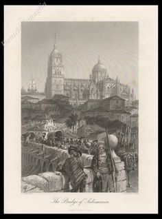 Giclee Print: The Bridge of Salamanca, Spain, Century : Cathedral Church, Lectures, Ways Of Seeing, Gradient Color, Find Art, Framed Artwork, 19th Century, Giclee Print, Taj Mahal