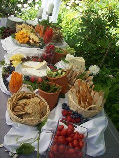 Ideas For Party Food Display Ideas Buffet Tables Wedding Catering Wedding Buffet Food, Wedding Reception Food, Wedding Catering, Food Buffet, Wedding Foods, Wedding Picnic, Reception Layout, Wedding Ideas, Cheap Wedding Food