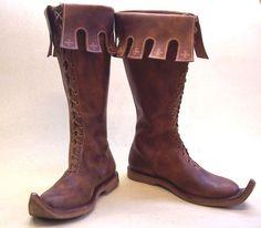 NOTTINGHAM high leather Medieval SHOES Boots Middle Ages Re-enactment SCA Fantasy Larp Gothic Shoe Men Women Unisex…