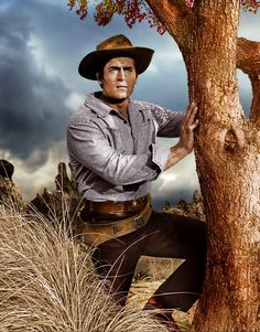 """Press photo of Clint Walker for the TV show """"Cheyenne. Old Western Actors, Western Movies, Tarzan, Clint Walker Actor, Cheyenne Bodie, Spy Shows, Tv Westerns, Body Poses, Le Far West"""