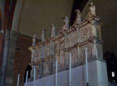 Detail of Sant Eustorgio Basilica in Milan (Italy)