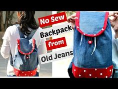 DIY: No-Sew Backpack from Old Jeans || Recycle old Denims - YouTube