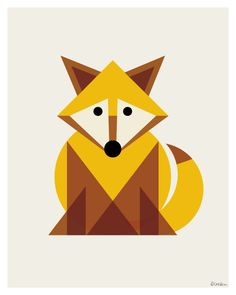 Geometric Fox Print by ModernSouth on Etsy, $18.00