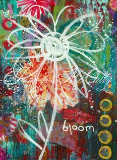 Mixed Media Art Print 8x10 Print Graffiti Bloom by by jmdesign, $22.00