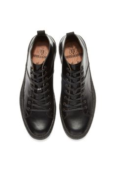 Fred Perry - Fred Perry x George Cox Creeper Mid Leather Black