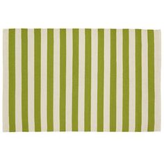 Land of Nod green striped rug