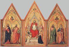 Retablo Stefaneschi, alrededor de 1330.  Vaticano (Roma).