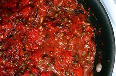 putanesca sauce but add chicken, prosciutto & green tortellini = my heaven!