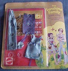1970s Sunshine Family Mint On Card Outfit Denim Unused Mattel MOC MIB