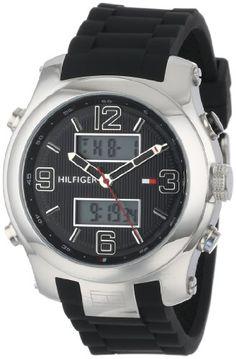 c3b66eab3a Tommy Hilfiger Mens 1790945 Cool Sport AnalogDigital and Black Silicone  Strap Watch    Read more