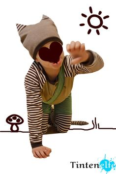 Nähen für Kinder - Ein Findus-Kostüm für die Kleene