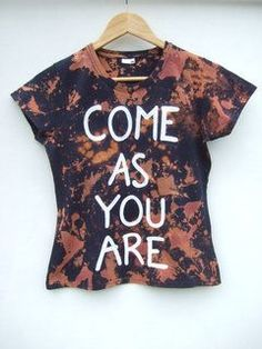 Come As You Are Acid Wash Nirvana Inspired T Shirt