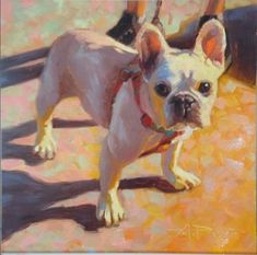"""Daily Paintworks - """"7 of 30 - Dogs and Cars - The Lexie Look"""" - Original Fine Art for Sale - © Anette Power"""