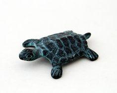 Vintage Miniature Turtle Paper Weight