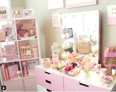 These makeup organization pictures will have you dreaming of your own perfect beauty battle station.