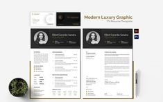 Graphic Design Resume, Cv Resume Template, Modern Luxury, Cv Template