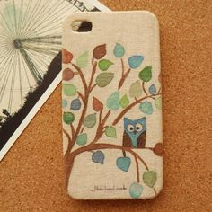 Cute Owl Fabric Phone Case ($19) this will be mine