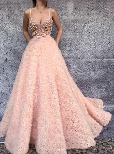 Gorgeous pink embroidered tulle dress