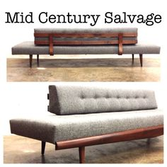 "Adrian Pearsall Sofa - Newly Refinished, New Upholstery! W: 101"" $3000 WE SHIP! 704-635-8744 #midcenturymodern #midcentury #charlotte"