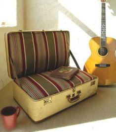 Votre vieille valise peut devenir une banquette super sympas.